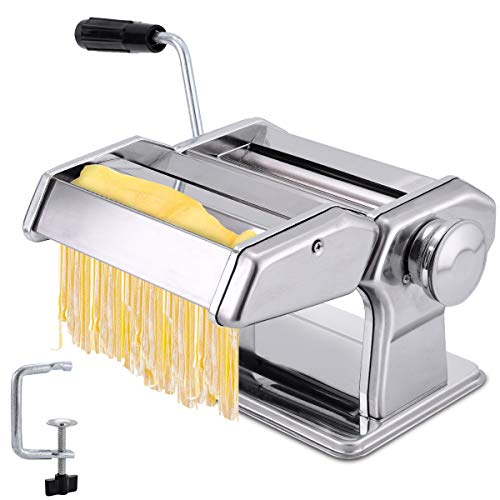 JOMUGY Pasta Maker - Pasta Roller Noodle Maker Machine - Pasta Roller with Pasta Cutter and Ravioli...