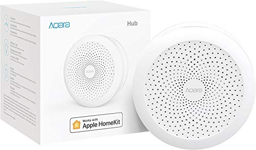 Aqara ZHWG11LM Hub, Wireless Smart Bridge for Alarm System, Home Automation, Remote Monitor and Control, Works with Apple HomeKit, Google Assistant, and Compatible with Alexa, White
