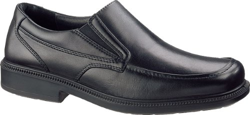 Hush Puppies Men's Leverage Slip-On Loafer, Black, 9.5 M US
