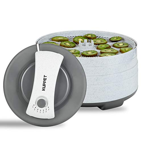 Review KUPPET Countertop Food Dehydrator Machine, Food Dryer with Temperature Control for Jerky/Meat...