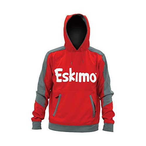 Eskimo Unisex Performance Hoodie, Red/Gray, XX-Large