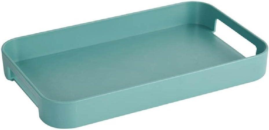 Bandeja de plástico rectangular con mango para desayuno, comida para desayuno, plato de almacenamiento