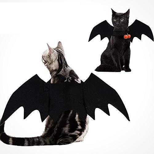LYN&xxx Halloween Pet Fledermausflügel Mit 2 Glocken Cosplay Prop Halloween Vampire Bat Kostüm-Ausstattungs-Flügel Für Kleine Hunde Und Katzen 2 Stück