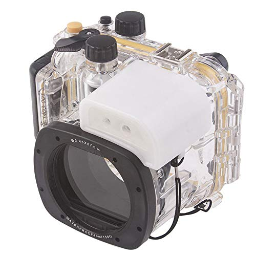 Yunchenghe 40 m/130 ft Carcasa Resistente al Agua Buceo Dura Caso Protectora para Canon G15