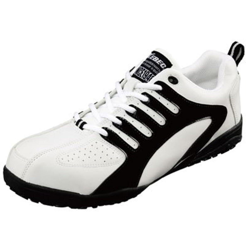 環境環境左ジーベック 安全靴 ローカットノンメッシュ?セフティシューズ 超軽量 22.0cm ホワイト 85402