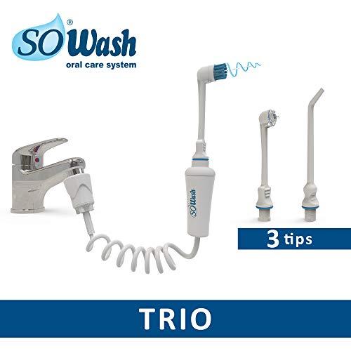 SOWASH - Trio - Irrigador para la higiene oral conectable al grifo
