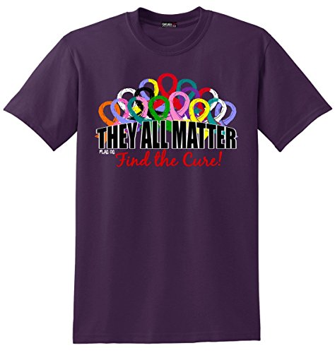 Fight Like a Girl They All Matter Cancer T-Shirt Unisex BlackBerry [L]
