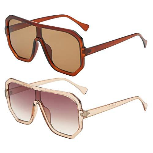 SM SunniMix Gafas de Sol de Montura Cuadrada Retro Unisex de 2 Uds