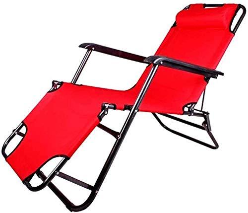 HTTIB Tumbona plegable para jardín, tumbonas, tumbonas, tumbonas, reclinable, para el hogar, plegable, reflexología, para interiores y exteriores, color rojo, tamaño: 178 x 62 x 30