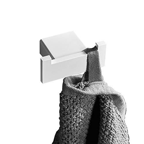 Leekayer Ganci portasciugamani Porta asciugamani da cucina Acciaio inossidabile gancio bianco Fai da te Ferramenta Attrezzi bagno gancio 7 cm