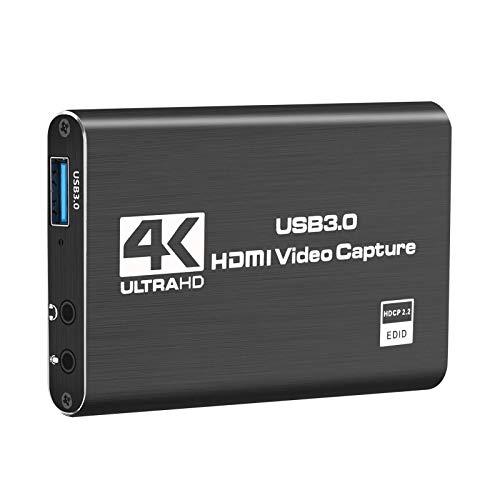 HDMI Video Game tarjeta de captura del USB 3.0, HD 1080P 60 FPS tarjeta de captura de vídeo convertidor de Transmisión en vivo / Juego de grabación de vídeo / pantalla compartida / Conferencia en Vivo