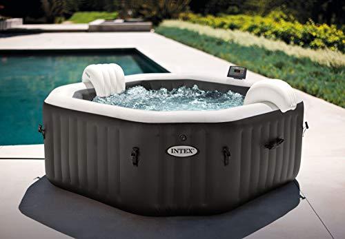 Intex Whirlpool Pure SPA Octagon Bubble Jet mit Salzwassersystem