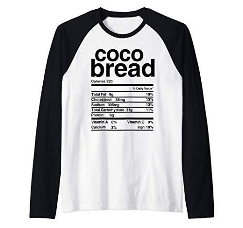Jamaican Coco Bread Nutritional Value Raglan Baseball Tee