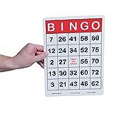 S&S Worldwide Jumbo Bingo Cards (Pack of 100)