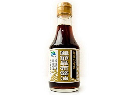 鮭節昆布醤油 150ml 知床の恵み (さけぶしこんぶしょうゆ) 北海道羅臼産の天然秋鮭節と上質な羅臼昆布の絶妙な組合せのだししょう油