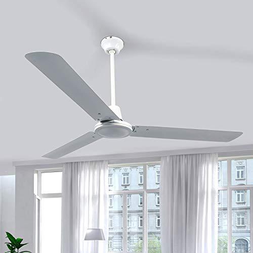 Lindby Deckenventilator leise ohne Beleuchtung mit Wandschalter |Ventilator modern | Durchmesser: 142 cm | 3 Geschwindigkeitsstufen | für Wohnzimmer, Esszimmer, Schlafzimmer,...