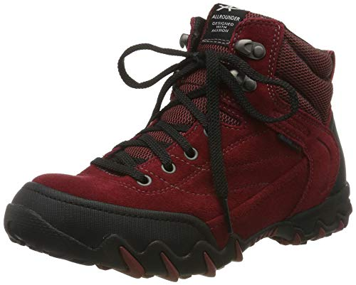 Allrounder by Mephisto Damen NIGATA-TEX Cross-Trainer, Rot (Black/Red Element Rubber 1/Coresuede 16), 38 EU