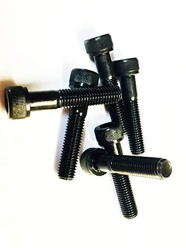 6 Stück M10x50 Skt Cap schwarz 1,25 Feinschliff hochfeste Schrauben 12,9 DIN916