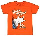 Dr. Seuss Boy's Youth Horton Hears A Who Orange Crew Neck T-Shirt (Small 6/8)