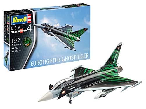 Revell 03884 3884 Eurofighter Ghost Tiger originalgetreuer Modellbausatz für Fortgeschrittene, Mehrfarbig, 1/72