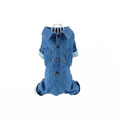 XF Haustier Kleidung - Haustier Kleidung Teddy niedlich als Bär Pommerschen Hund weiche Jeans Vier Ecke dünn Haustier Ausrüstung // (größe : M)