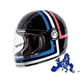 Torc T-1 Retro American Tron Vintage Glossy Black Gloss Helmet ECE DOT Approved