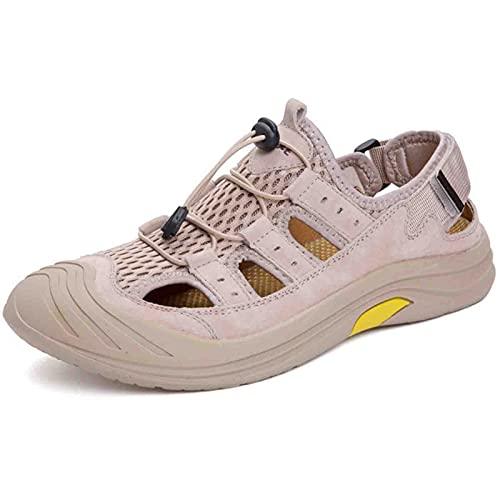 Sandalias para Hombre Zapatos Casuales Cómodos Zapatos Vadear Playa Aire Libre Verano,C/beige,40EU/7UK/8.5US