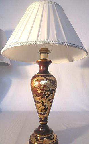 Artissimo Tischleuchte, Nachttischlampe, Tischlampe, Lampe, Leuchte Braun beige Gold 60 cm
