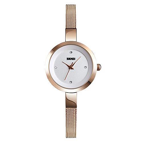 SKMEI Women Waterproof Watch, Wrist Watch for Lady Girls, Dress Casual Analog Quartz Watches for Women
