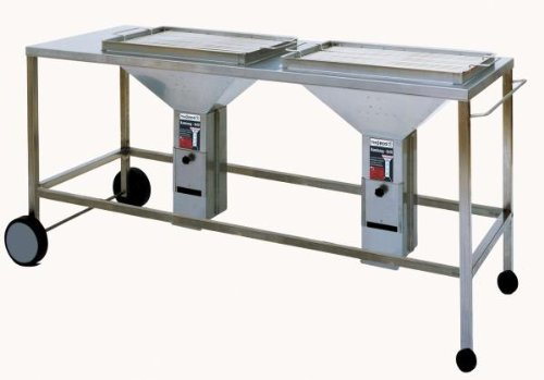 fahrbare Duo- Grillstation mit 2 THÜROS II Einsätzen