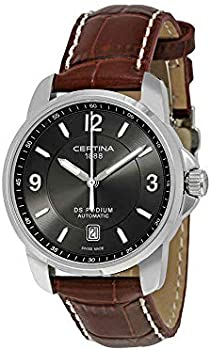 Certina DS Podium Automatic Grey Dial Brown Leather Men's Watch