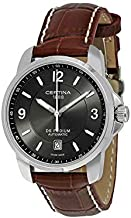 Certina DS Podium Automatic Grey Dial Brown Leather Mens Watch C001.407.16.087.00