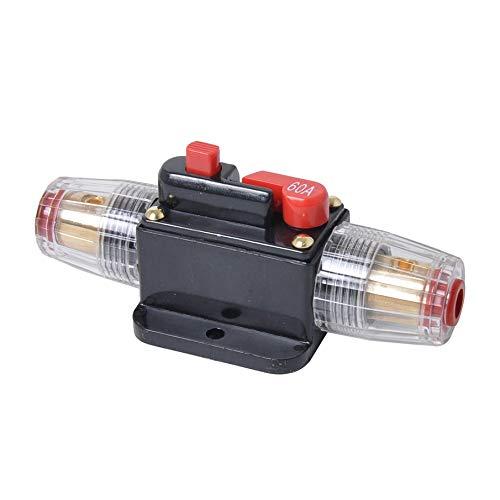 30A 40A 60A 80A 100A Auto-LKW-Audio-Verstärker-Leistungsschalter Sicherungshalter AGU-Art-Stereoverstärker Refit Fuse Adapter - Schwarz