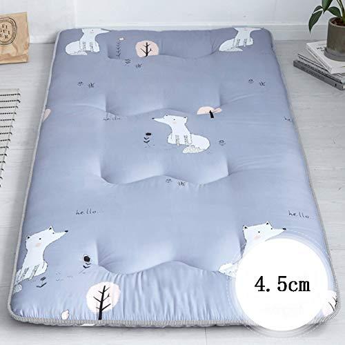 fgdjtyyj Almohadillas de dormir antideslizantes para dormitorio de estudiante, tapete plegable de tatami, cama suave japonesa enrollable para colchón de 90 x 200 cm