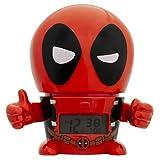 BulbBotz Marvel 2021463 Deadpool Kids Night Light Reloj despertador con sonido caracterizado | Rojo/Negro | Plástico | 5.5 pulgadas de alto | Pantalla LCD | Niño Niña | Oficial