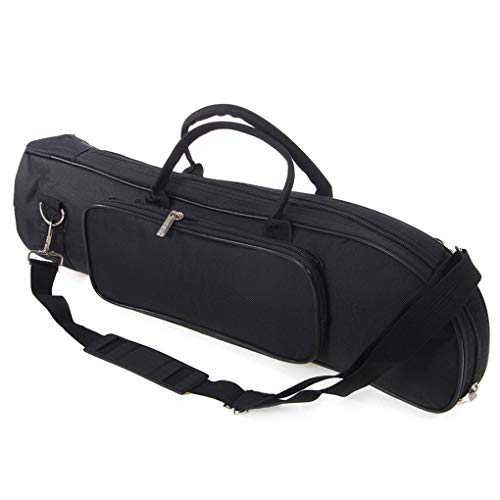 Babysbreath17 Trompete Tasche Zipper Design Schultertasche Instrumententasche Aufbewahrungstasche Trompete Handtragetasche Orchester-Musik-Instrument Speicher schwarz