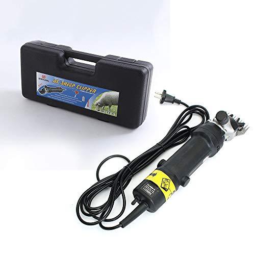 CNMF Draagbare elektrische wolschaar, 320 W, veiligheid professionele diertrimmer boerderranch voor het scheren van vachtwol bij schapen/paarden met draagkoffer, zwart