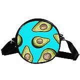 Bolso cruzado redondo Bolso pequeño señoras Moda Bolsos de hombro Bolsa de mensajero Bolsa de lona Bolsa de cintura Accesorios para mujeres - Receta Aguacate