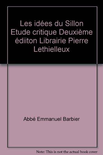 Les idées du Sillon Etude critique Deuxième édiiton Librairie Pierre Lethielleux