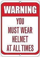 警告常にヘルメットを着用する必要があります交通標識アルミニウム金属標識
