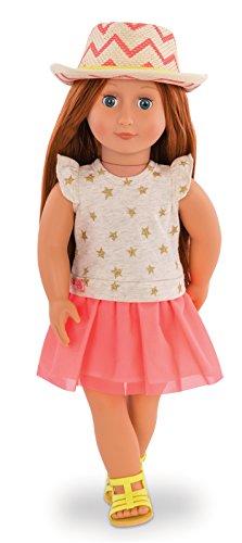 Our Generation BD31138Z Puppe Clementine mit Sternchenkleid und Hut, Bunt, 46 cm