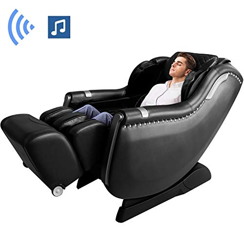 OOTORI Massage Chair, SL-Track 3D Robert Zero Gravity Thai Massage Chair with Space Saving,Full Body Air Massaging Chairs, Yoga Stretching, Bluetooth Speaker, Heat&Foot Roller (Black)