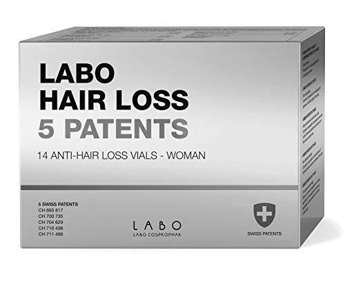 Labo Hair Loss Lot de 5 flacons de 14 flacons de 3,5 ml de cire anti-cheveux pour femme