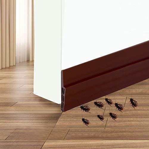 Camel Home Door Sweep Weather Stripping - Self Adhesive Door Draft Stopper Rubber Door Seal for Interior Doors Soundproof under Door Bottom Seal Strip for Energy Saver 2