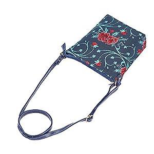 Signare Tapestry Small Cross body Bag Sling Bag for Women with with Mexican Folk Art Design (Frida Kahlo Carnation, SLING-FKCARN)