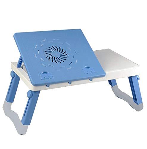 Mobiele laptoptafel, draagbaar, bijzettafel, bed, bureau, laptopframe, laptop-dienblad, inklapbaar, kantelbaar, met radiator-D-56 x 33 x (27-38) cm