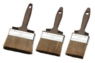Lasurpinsel,Lackpinsel, Malerpinsel-Set 3-tlg. LASURSTREICHER, HOLZSCHUTZSTREICHER SET ECO 3-TEILIG 70 mm, 100 mm, 120 mm