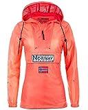 Geographical Norway Downcity Damen Windbreaker Jacke Coral XL