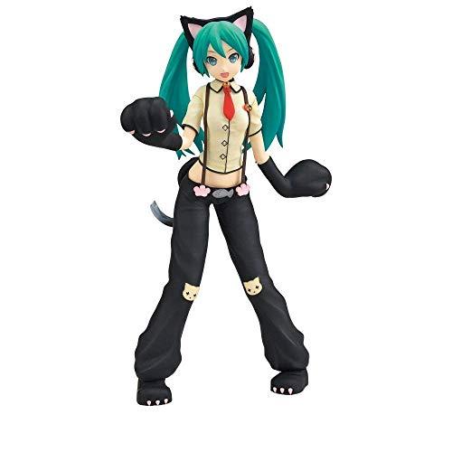 "Sega Project Diva Arcade Future Tone Hatsune Miku Super Premium Action Figure Nyanko, 9"""