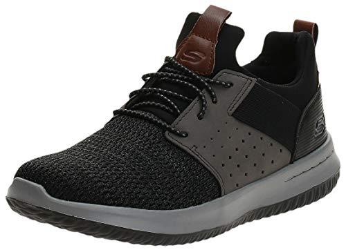 Skechers Classic Fit-Delson-Camden, Men's Sneakers, Black/Black, 9.5 UK (10.5 US)